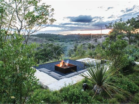 rustic style fire pits landscaping ideas and hardscape
