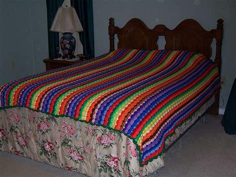 crochet pattern for queen size afghan multi colored queen size handmade crochet afghan john s