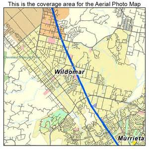 aerial photography map of wildomar ca california