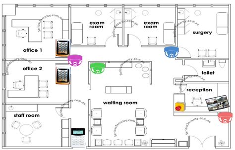 medical clinic floor plans medical centre surgery clinic security system serious