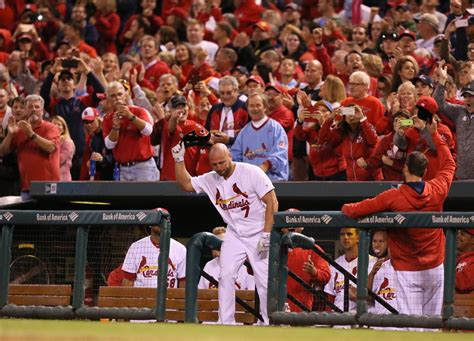 st louis cardinals fans holliday homers in probable farewell with cardinals