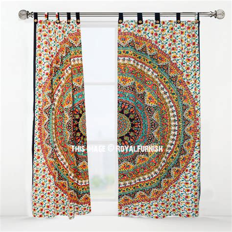 elephant tapestry curtain red yellow kerala elephant tapestry curtain panel pair