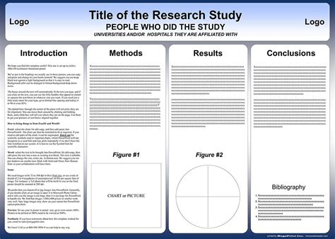 poster board template free powerpoint scientific research poster templates for