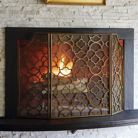 mesh fireplace screen frontgate
