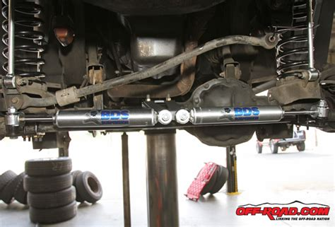 Steering Stabilizer Jeep Wj Jeep Grand Project Bds 4 Inch Suspension Install