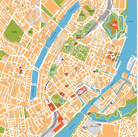 copenhagen map copenhagen vector map eps illustrator map our cartographers made copenhagen vector map