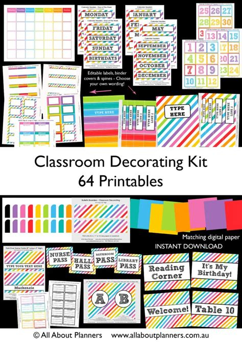 printable calendar labels for classroom how to make teaching printables and classroom decorating