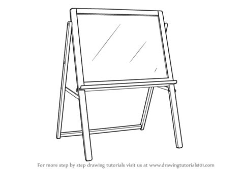 colour doodle drawing board learn how to draw drawing board standing furniture step