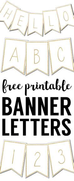 number templates for banners free printable letters for banners printable letters