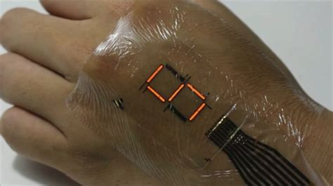 tech tattoo electronic transforms skin into a screen