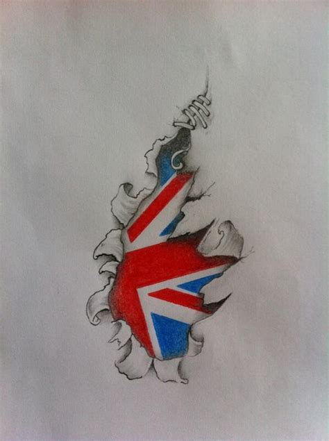 union jack tattoo designs twisted on quot torn skin custom design