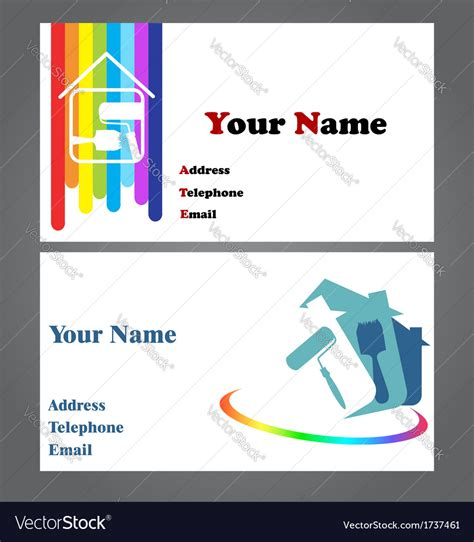 business vector royalty free stock images image 1449729 business card painter royalty free vector image