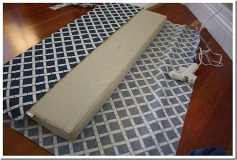 bench cushion tutorial   fabric  cushion   hot glue gun entrywaylaunch pad