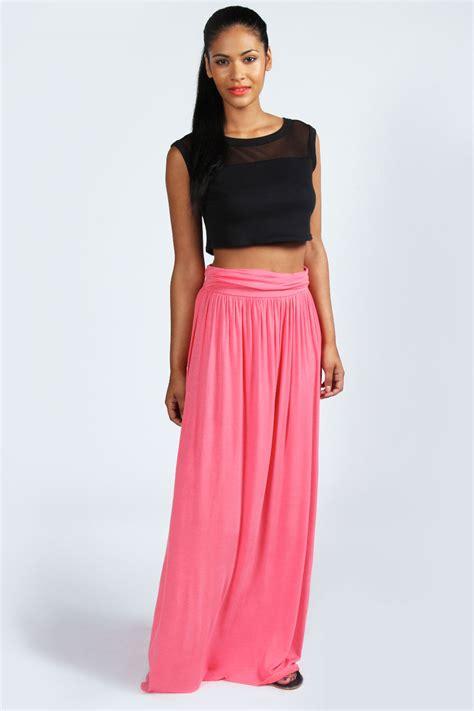 Savanabergo Pad Maxi Jersey Xl fiona fold waist jersey maxi skirt coral coral shopping s fashion s