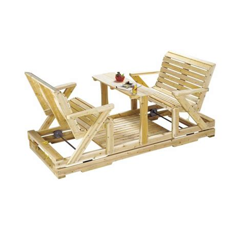 Balançoire en bois de cèdre rouge ou blanc. BERCEUSE en bois.