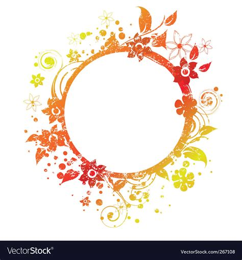 Roundhouse Stock Images Royalty Free Images Vectors | floral round frame 3 v royalty free vector image