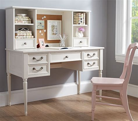 pottery barn desk kids blythe desk tall hutch pottery barn kids