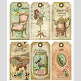 Vintage printable labels, vintage tags, vintage clip art More