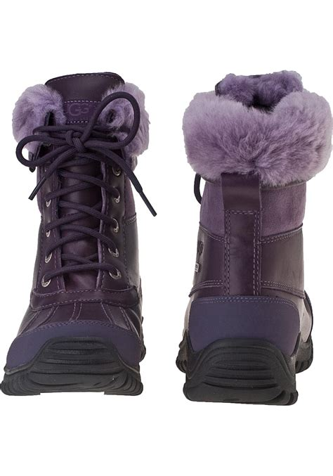 uggs snow boots for lyst ugg adirondack ii snow boot blackberry wine leather
