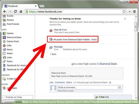 facebook chat bar top friends how to hide certain game status updates from other friends