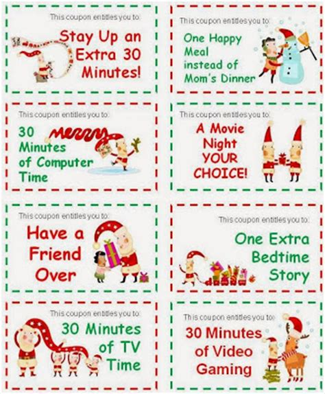 printable xmas coupons printable christmas coupons search results calendar 2015