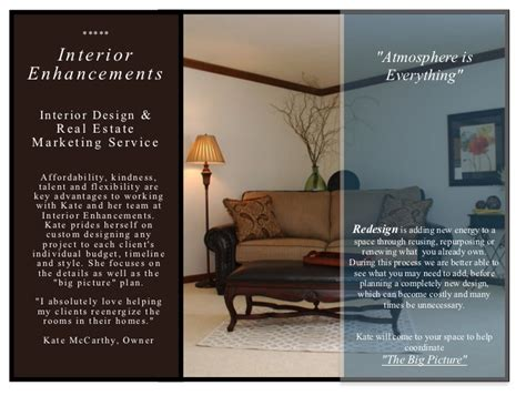 interior enhancements  design brochure