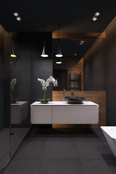 black bathroom ideas best 25 bathrooms ideas on slate
