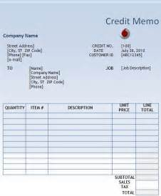 Credit Memo Template by Credit Memo Template Free Word S Templates