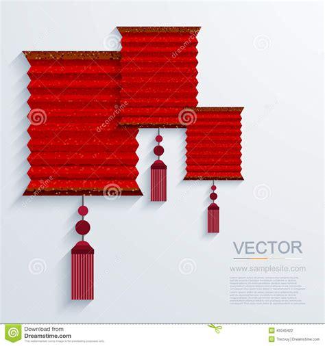 Modern Paper - vector modern paper lantern background stock