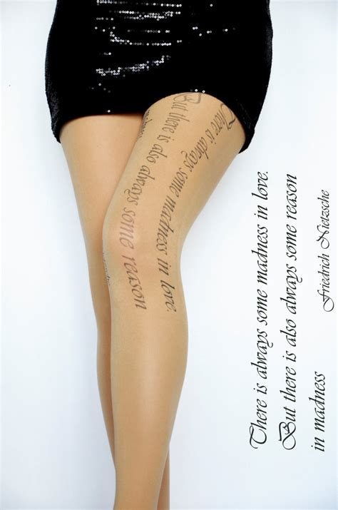 art text tattoo tights pantyhose beige color print tattoo