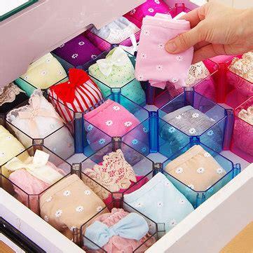 diy grid socks creative drawer diy grid storage box holder