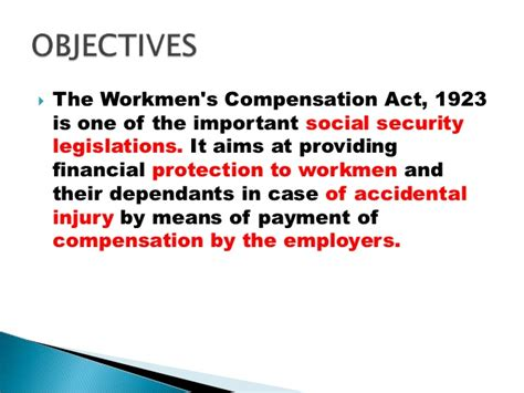 section 207 of the social security act the workmen s compensation act 1923