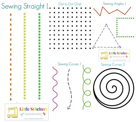 pattern making workshop practice little stitchers week 2 printable pack