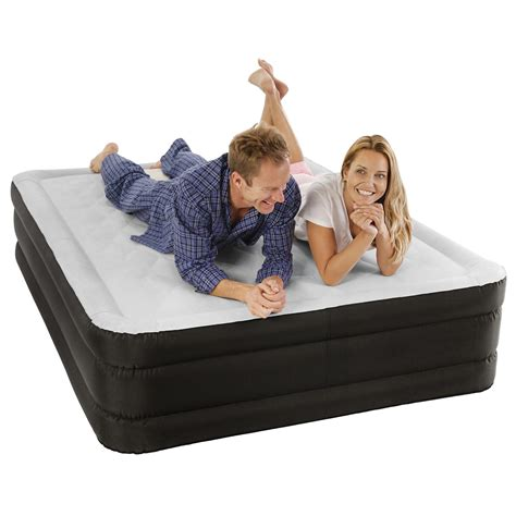 air comfort sleep air mattress raised profile bed with