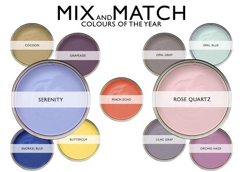 match color mix and match pantone colours of the year blinds