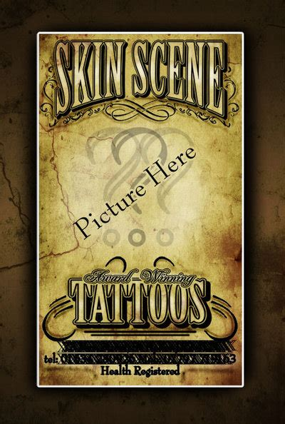 Business Card Size Tattoos