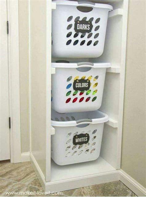 laundry room basket storage 1000 ideas about laundry basket organization on