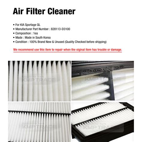 Air Cleaner All New Part Lokal oem genuine parts air filter cleaner 28113 d3100 for kia 2017 2018 sportage ql ebay