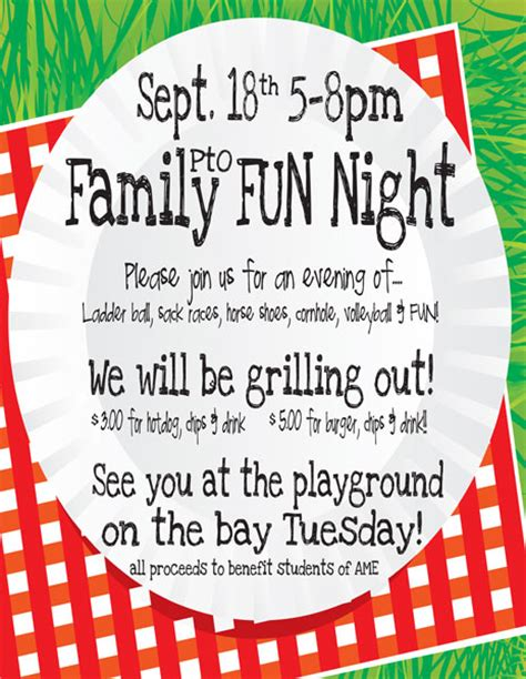 family game night flyer template grosir baju surabaya