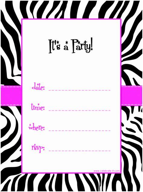 printable birthday invitations word 5 free party invitations templates to print auiwu