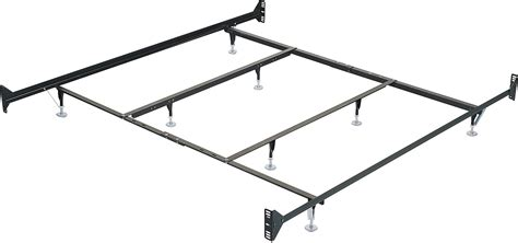 king metal glide bedframe w headboard footboard