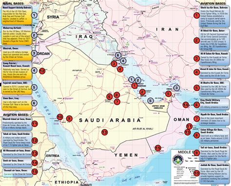 the middle east and iran us bases in the middle