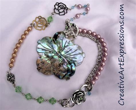 Handmade Shell Jewelry - creative expressions handmade paua shell flower