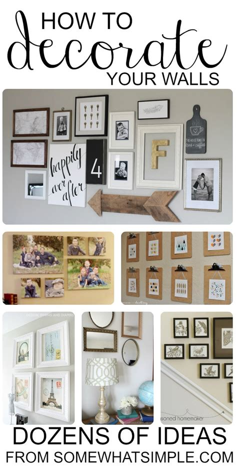 decorating walls ideas diy wall hangings dozens of great ideas for decorating