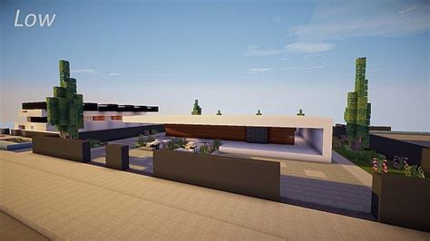 home sleek home low sleek modern house minecraft project