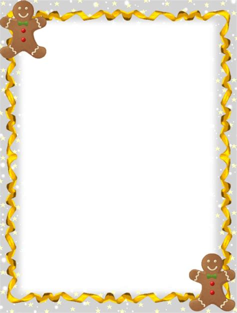 free printable gingerbread man border 8 best page borders images on pinterest christmas