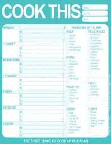 menu planner template free printable 20 free menu planner printables fab n free