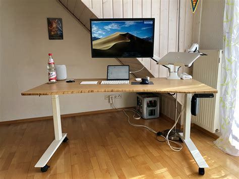sylvan s standing desk setup homescreens office setups