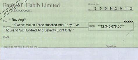 bank of habib cheque writing printing software for pakistan banks