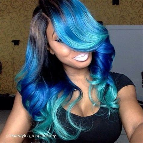 Wig Wavy Mermaid Wave Kawaii Ulzzang 11 best blue ombre hair color ideas light all